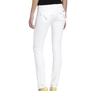 Hudson Flap Pocket White Jeans